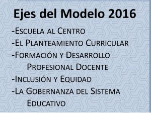 Modelo educativo ejes