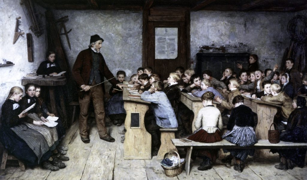 Village school (1896) de Albert Anker