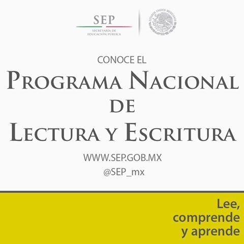 programa nacional de lectura y escritura