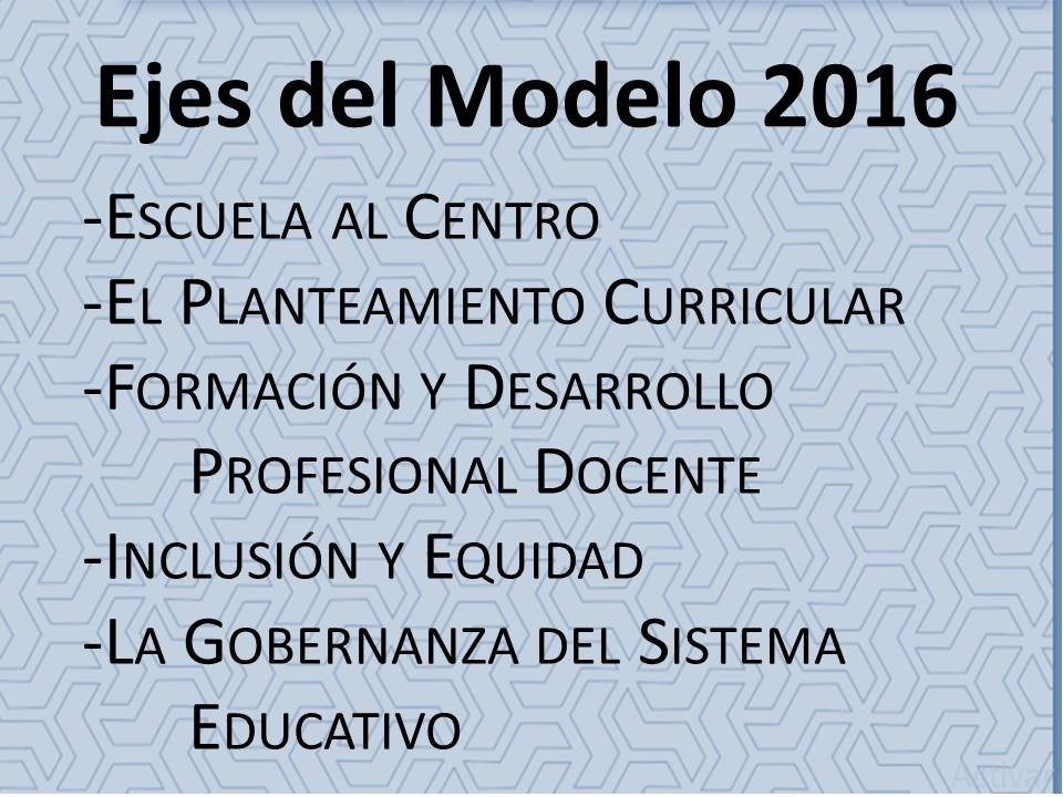 Modelo educativo ejes