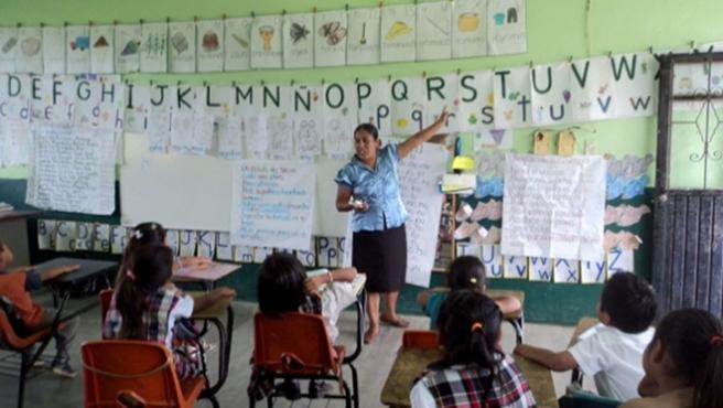 Escuela indígena en Hidalgo